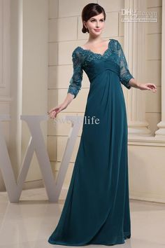 e31797d1cf4 Wholesale 2013 New Plus Size Long Sleeve Green Lace A-Line V-Neck Backless  Mother of the Bride Dresses Bridal Groom Gown Formal Dresses Evening Dress