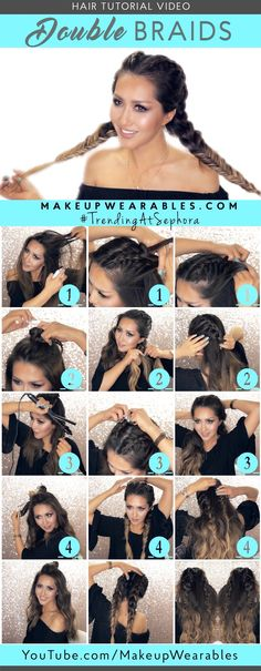 3 Spring Hairstyles with Braids & 5 Minute Lazy Lob Waves tutorial