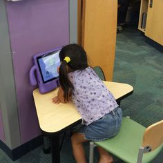 iPads with apps for children to play at the Addison Library.