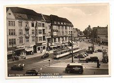 Ak-Berlin-Berlin-Steglitz-Albrechtstr-Strassenbahn-50ziger-Jahre