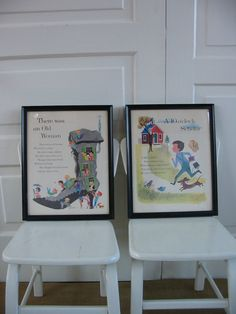 Use pages from a vintage children's book to create framed art