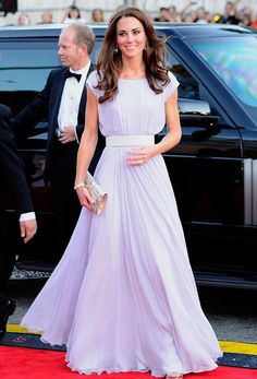 Princess Kate long flowing gown