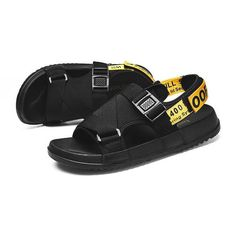 d6259c87bb1775 Mens Summer Strap Open Toe Sandals Athletic Casual Beach Sandals for Sport  Walking Hiking 3085