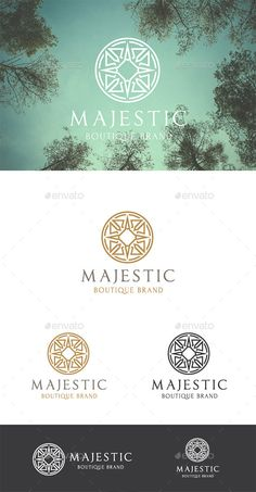 Majestic Brand — Vector EPS #swirl #ornament • Available here → https://graphicriver.net/item/majestic-brand/10023178?ref=pxcr