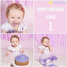 Photos from Arya's 1st Birthday Cake Smash!  #verojphotography #cakesmash #london