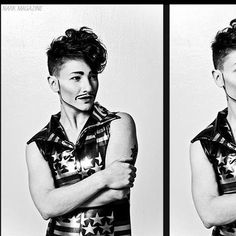 Drag king and boylesque performer Lou Henry Hoover, photograph by Nark Magazine
