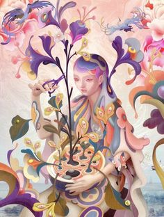 James Jean, Recent Paintings.Two recent paintings by masterful artists James Jean (Previously on Supersonic Art).-Be sure to follow Supersonic Art on Instagram! Holographic Foil, Pop Surrealism, Colorful Drawings, Art Drawings, Surreal Art, Art Blog, Art Inspo, Art Museum, Contemporary Art