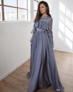 Prom dresses long with sleeves - Lace Beaded Cheap 2019 African Evening Dresses Long Sleeves Chiffon Prom Dresses Aline Formal Party Bridesmaid Pageant Gowns – Prom dresses long with sleeves Kids Prom Dresses, Women's Dresses, Elegant Dresses, Pretty Dresses, Fashion Dresses, Dress Outfits, Chiffon Dresses, Frock Fashion, Sleeve Dresses
