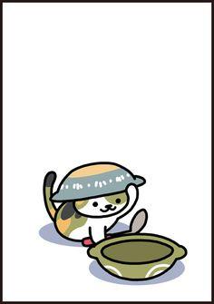 KinNeko2016092301 Doodle Drawings, Cute Drawings, Neko Atsume Wallpaper, Cute Cat Drawing, Kawaii Cat, Cat Love, Cool Art, Pusheen, Cute Animals
