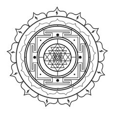 Portal de Mandalas - Mandalas Mágicas: Yantra para pintar - Sri Yantra - Deusa Tripura Sundari (Lalita)