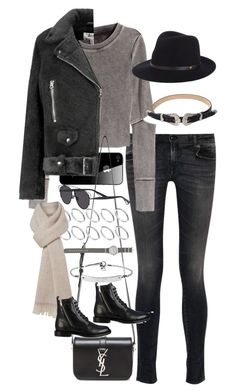 """Inspired outfit for uni class"" by pagesbyhayley ❤ liked on Polyvore featuring R13, H&M, Acne Studios, Yves Saint Laurent, ASOS, MaxMara, Christian Dior, J.Crew, rag & bone and MICHAEL Michael Kors"