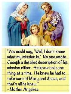 Mother Angelica on St. Joseph!? More than that, more like Mother Angelica on why and how we're supposed to TRUST in God's Will for our lives!