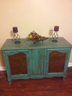 Old stereo cabinet redo. would be neat for tv console in bedroom