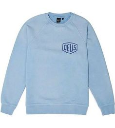 Deus Sunbleached Venice Crew Sweater Sky Blue