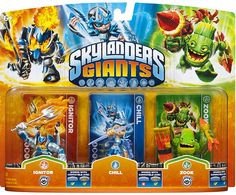 #ToysRus                  #Toys #Action Figures     #skylander #zook #lif #ignitor #powers #portal #skylanders #own #giants #unique #triple #life #ultimate #collection #packs #game #power                     Skylanders Giants: Triple Packs -Chill, Zook 2, and Ignitor 2                 Bring the Skylanders to Life! Bring the Skylanders to life by placing them on the Portal of Power. Build the ultimate collection of Skylanders - over 45 Skylanders to collect! Each Skylander has their own…