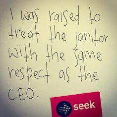 Respect... No matter who...