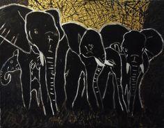 "Saatchi Art Artist Alex Gubanov; Painting, ""Black elephants"" #art Save The Elephants, Saatchi Art, Original Paintings, Artist, Black, Black People, Artists"