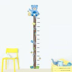 54f132d05 Adesivo Régua de Crescimento Descanso do Ursinho Azul R319 R 98