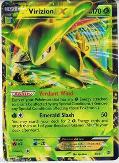 Pokemon Card Plasma Blast Rare Holo Virizion EX 9/101 FREE COMBINED SHIPPING