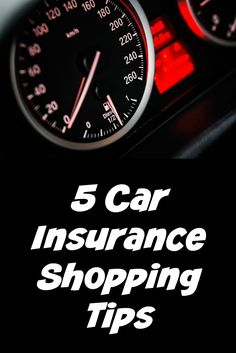 Top 5 Car Insurance Shopping Tips