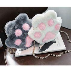 Kitten Paw Purse Shoulder Handbag Bag Kawaii Furry  f501251bd5460