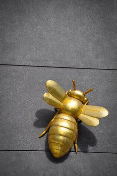 Little golden bee Bee Jewelry, Insect Jewelry, Jewellery, Metal Animal, I Love Bees, Bee Art, Save The Bees, Bee Happy, Grey And Gold