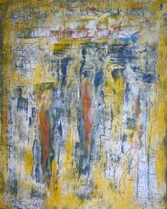 DORIS DUSCHELBAUER  mixed media S/T 92 X 73 CM