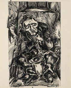 Ludwig Meidner (German, 1884 – 1966) - Refuge, 1915