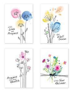 Watercolor Pencil Art, Watercolor Artwork, Watercolor And Ink, Simple Watercolor Flowers, Watercolor Flowers Tutorial, Simple Flower Painting, Watercolor Birthday Cards, Watercolor Cards, Birthday Card Drawing