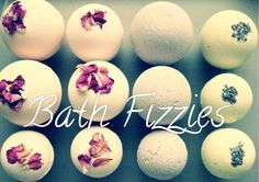 COCOA BUTTER FIZZY  The cocoa butter moisturizes and softens the skin. It also has a long shelf life.  Yield: 5 medium bath bombs  1 cup citric acid (8 ounces)  2 cups baking soda (16 ounces)  1 teaspoon melted cocoa butter  ½ -1 teaspoon essential oil