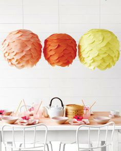 Decorative paper lanterns. It may have an asian fusion, but you can totally make it your own!