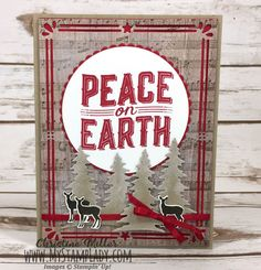 Stampin' Up! Carols Of Christmas and Sheet Music. Real Red and Crumb Cake Peace On Earth. Find Supplies at www.shopwithmystamplady.com