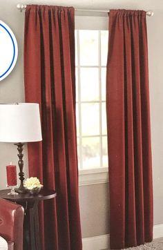 MainStays Room Darkening Panel Set 42x84 inch each Red Diamond 2pc New #Mainstays #Contemporary