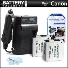 2 Pack Battery And Charger Kit For Canon Powershot Elph 110 HS, Elph 320 HS, A2300 IS, A2400 IS, A3400 IS, A4000 IS Digital Camera Includes 2 Extended Replacement (900Mah) NB-11L Batteries + Ac/Dc Travel Charger + LCD Screen Protectors + MicroFiber Cloth by ButterflyPhoto. $18.95. Kit Includes:♦ 1) Vidpro - Ac/Dc 110/220 battery caherger For Canon NB-11L Battery Pack♦ 2) Vidpro - (Qty. 2) Replacement Battery Pack For Canon NB-11L Battery Pack (900 mAH)♦ 3) Z...