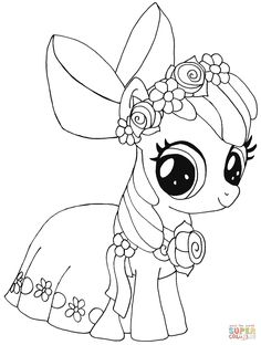 My Little Pony Fluttershy Rarity Pinkie Pie Rainbow Dash Coloring Pages Printable And Book To Print For Free Find More Online