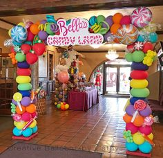 Concepts Birthday Get together Balloons Decorations Backdrops 🎈 - Balloon 🎈 Decorations - Birthday Party Candy Theme Birthday Party, Candy Land Theme, Cars Birthday Parties, Candy Party, Birthday Balloons, Birthday Ideas, Party Treats, Mouse Parties, 7th Birthday