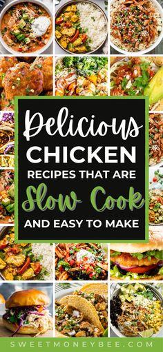 Slow Cooker Creamy Chicken, Crockpot Chicken Healthy, Healthy Chicken Dinner, Yummy Chicken Recipes, Crockpot Dishes, Yum Yum Chicken, Crock Pot Cooking, Healthy Crockpot Recipes, Crockpot Meals