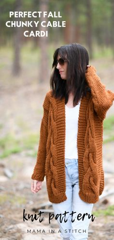 Easy Cable Knit Sweater Free Pattern