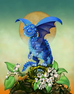 Dragon Print featuring the digital art Blueberry Dragon by Stanley Morrison Dragon 2, Fantasy Dragon, Baby Dragon, Fantasy Art, Toothless Dragon, Magical Creatures, Fantasy Creatures, Dragon Print, Dragon Pictures