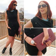 New Style Post!: #LBD from @benchcanada, #shopforjayu #necklace, #houseofharlow1960 #clutch from #winners. Get all the style details!: http://www.thepurplescarf.ca/2014/05/fashion-style-unique-chic-lbd-from-bench.html #fashion #style #dress #clutch