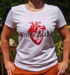 Unbreakable Heart women's t-shirt from fillyourlifeup.com/shop