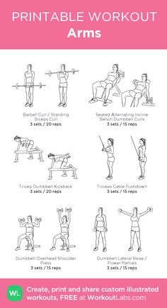 Must Read workout plans which are really sensible for beginners, both gents and women to achieve. Learn the exciting fitness exercise regimen pin-image reference 9534783266 today. Chest And Arm Workout, Shoulder Workout, Lifting Workouts, Gym Workouts, Workout Routines, Reps And Sets, Printable Workouts, Dumbbell Workout, Weekly Workouts