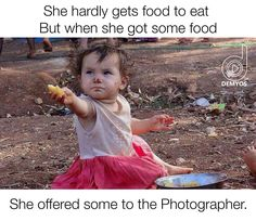 I have seen SO MANY pictures of kids offering to share the very little they have with others!! They deserve far better than this