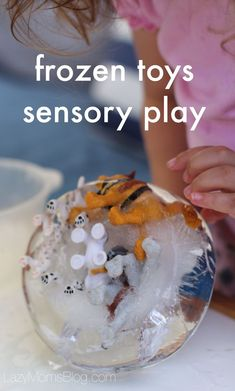 Easy and fun ice sensory play ideas for babies, toddlers and preschoolers!