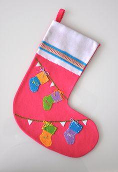 felt christmas stocking little stockings by GALEL on Etsy