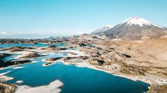 Cotacotani lakes Northern Chile. Ones of the highest lakes in the world. Surrounded by the volcanos Parinacota and Pomerantz. Flying drones here.... Nor easy thing.  #Chile #aricayparinacota