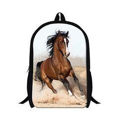 0649553800 Personalized animal horse backpacks for children