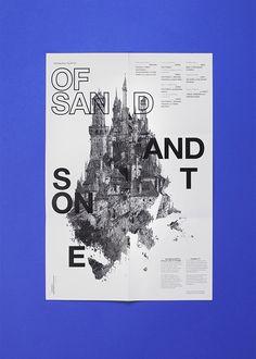 Cool poster / Of Sand and Stone by StudioKxx Krzysztof Domaradzki, via Behance