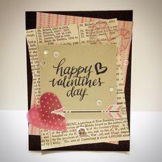 valentine's day card! simon says stamp card kit!!