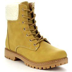 Anna Dallas-13 Women's Stylish Padded Collar Up Walking Boots (-5.5)